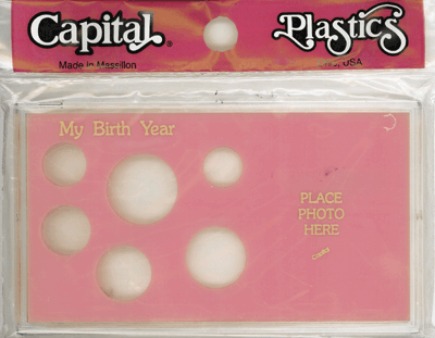 My Birth Year Capital Plastics Photo / 6 Coin Holder Pink Meteor My Birth Year Capital Plastics Photo / 6 Coin Holder Pink, Capital, MA32A Pink