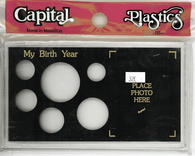 My Birth Year Capital Plastics Photo / 6 Coin Holder Black Lg. Dollar Meteor My Birth Year Capital Plastics Photo / 6 Coin Holder Black Lg. Dollar, Capital, MA32E Black