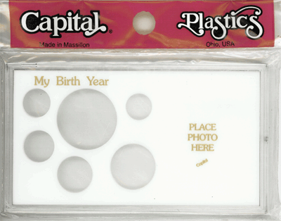 My Birth Year Capital Plastics Photo / 6 Coin Holder White ASE Meteor My Birth Year Capital Plastics Photo / 6 Coin Holder White ASE, Capital, MA32SE White