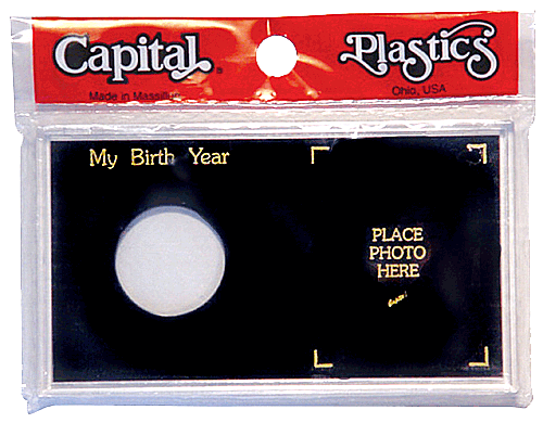 My Birth Year Silver Eagle / Photo Capital Plastics Coin Holder Black Meteor My Birth Year Silver Eagle / Photo Capital Plastics Coin Holder Black, Capital, MA32XBY