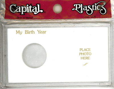 My Birth Year Silver Eagle / Photo Capital Plastics Coin Holder White Meteor My Birth Year Silver Eagle / Photo Capital Plastics Coin Holder White, Capital, MA32XBY