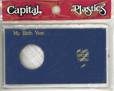 My Birth Year Silver Eagle / Photo Capital Plastics Coin Holder Blue Meteor My Birth Year Silver Eagle / Photo Capital Plastics Coin Holder Blue, Capital, MA32XBY