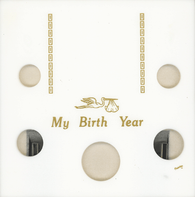 My Birth Year 5 Coin / Photo Capital Plastics Coin Holder White Snap Galaxy My Birth Year 5 Coin / Photo Capital Plastics Coin Holder White Snap, Capital, GA5BY-White
