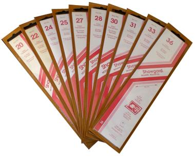 Showgard Stamp Mounts 28x215mm Clear Showgard, Clear, stamp mounts, stamp collecting, stamp album, 28x215mm