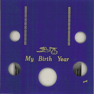My Birth Year 5 Coin Capital Plastics Coin Holder Blue Galaxy Galaxy My Birth Year 5 Coin Capital Plastics Coin Holder Blue Galaxy, Capital, GA5BY-Blue