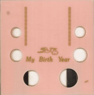 My Birth Year 6 Coin Capital Plastics Coin Holder Pink Galaxy Galaxy My Birth Year 6 Coin Capital Plastics Coin Holder Pink Galaxy, Capital, GA6ABY