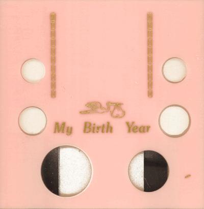 My Birth Year 6 Coin Eisenhower Capital Plastics Coin Holder Pink Galaxy Galaxy My Birth Year 6 Coin Eisenhower Capital Plastics Coin Holder Pink Galaxy, Capital, GA6EBY