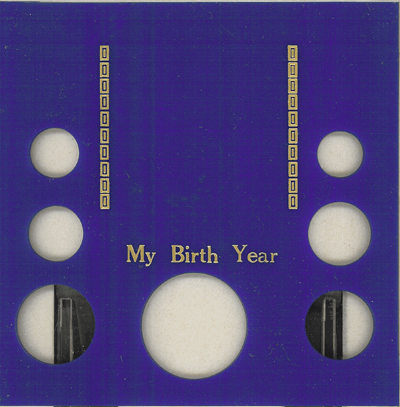 My Birth Year 7 Coin Capital Plastics Coin Holder Blue Galaxy Galaxy My Birth Year 7 Coin Capital Plastics Coin Holder Blue Galaxy, Capital, GA7BY