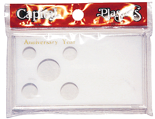 Anniversary Year Capital Plastics Coin Holder White Meteor Anniversary Year Capital Plastics Coin Holder White, Capital, MA32AY