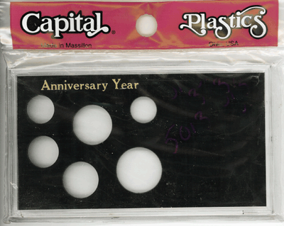 Anniversary Year 6 Coin Capital Plastics Coin Holder Black Meteor Anniversary Year 6 Coin Capital Plastics Coin Holder Black, Capital, MA6AAY