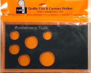 Anniversary Year 6 Coin Capital Plastics Coin Holder Meteor Black Meteor Anniversary Year 6 Coin Capital Plastics Coin Holder Meteor Black, Capital, MA6AAY