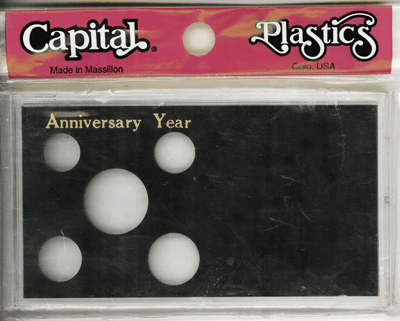 Anniversary ASE Capital Plastics Coin Holder Black Meteor Anniversary ASE Capital Plastics Coin Holder Black, Capital, MA32SEAY