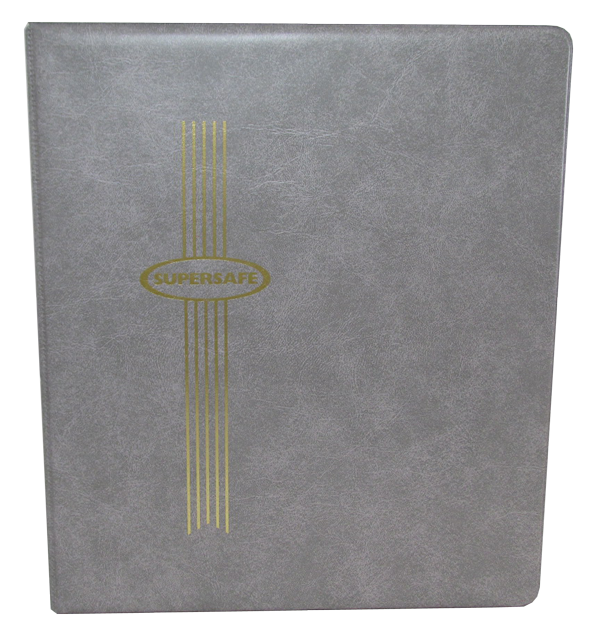 Standard Size Supersafe Binder- Gray Standard Size Supersafe Binder- Gray, SSB