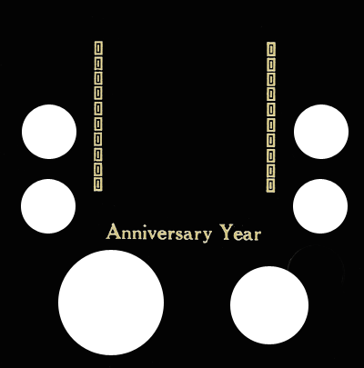 Anniversary Year 6 Coin Capital Plastics Coin Holder Black Galaxy