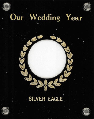 Our Wedding Year Capital Plastics Coin Holder Black 4x5 Our Wedding Year Capital Plastics Coin Holder Black, Capital, 150SEWY