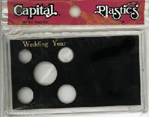 Wedding Year Capital Plastics Coin Holder Black Meteor