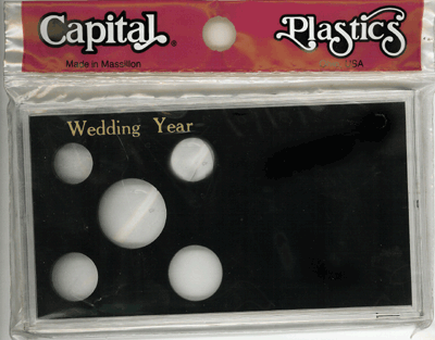 Wedding Year 6 Coin Capital Plastics Coin Holder Black Meteor