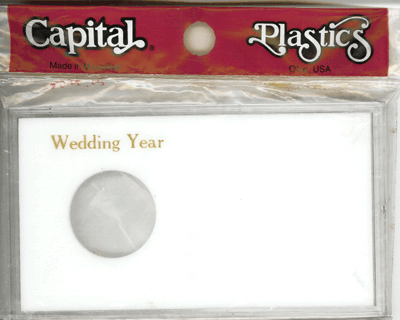 Wedding Year ASE Capital Plastics Coin Holder White Meteor