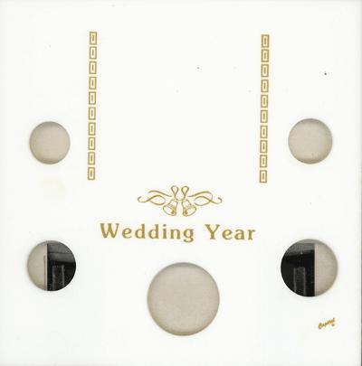 Wedding Year Capital Plastics Coin Holder White Galaxy Galaxy