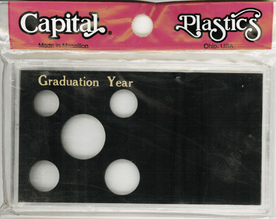 Graduation Year Capital Plastics Coin Holder Black Meteor Graduation Year Capital Plastics Coin Holder Black, Capital, MA32GY
