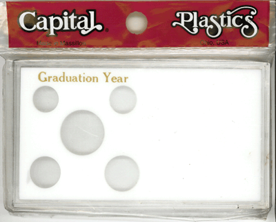 Graduation Year Capital Plastics Coin Holder White Meteor Graduation Year Capital Plastics Coin Holder White, Capital, MA32GY