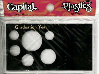 Graduation Year ASE 6 Coin Capital Plastics Coin Holder Black Meteor Graduation Year ASE 6 Coin Capital Plastics Coin Holder Black, Capital, MA32SEGY