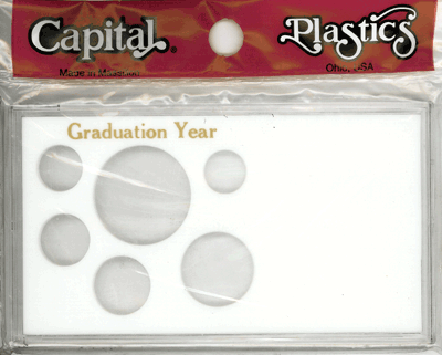 Graduation Year ASE 6 Coin Capital Plastics Coin Holder White Meteor Graduation Year ASE 6 Coin Capital Plastics Coin Holder White, Capital, MA32SEGY