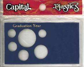 Graduation Year ASE 6 Coin Capital Plastics Coin Holder Blue