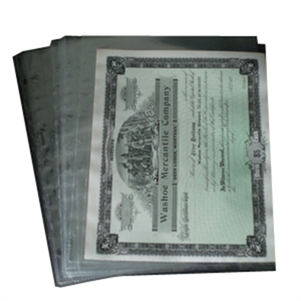 1 Pocket Archival Polypropylene Pages, Clear 1 Pocket ,Archival, Polypropylene ,Pages, Clear, 201c