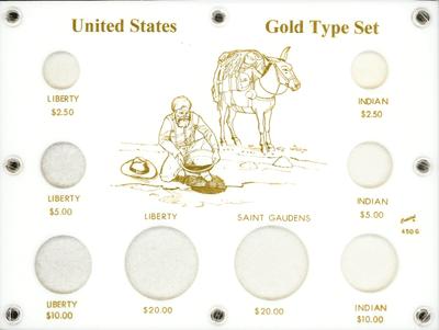 U.S. Gold Type Set  6x8 U.S. Gold Type Set , Capital, 450G