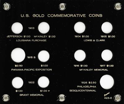 Commemorative Gold Coins 1903-1926 5x6 Commemorative Gold Coins 1903-1926, Capital, 423E