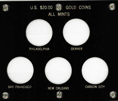 All Mints U.S. $20.00 Gold Coins 5x6 All Mints U.S. $20.00 Gold Coins, Capital, 423F