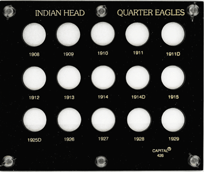 Indian Head Quarter Eagles  5x6 Indian Head Quarter Eagles , Capital, 426