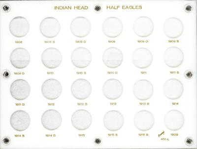 Indian Head Half Eagles  6x8 Indian Head Half Eagles , Capital, 451L