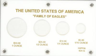U.S. Gold Eagles  3.5x6 U.S. Gold Eagles , Capital, 434G