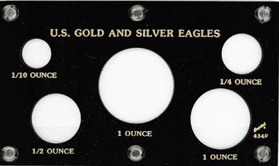 U.S. Gold & Silver Eagles 3.5x6 U.S. Gold & Silver Eagles, Capital, 434F