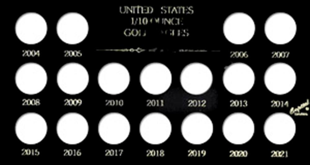 U.S. 1/10 Ounce Gold Eagles 2004-2021 Meteor U.S. 1/10 Ounce Gold Eagles 2004-2021, Capital, MA437A