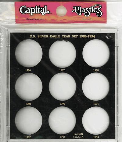 Capital Plastics Silver Eagle Year Set 1986-1994