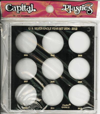 U.S. Silver Eagle Year Set 2004-2012 Galaxy U.S. Silver Eagle Year Set 2004-2012, Capital, GX9SEC