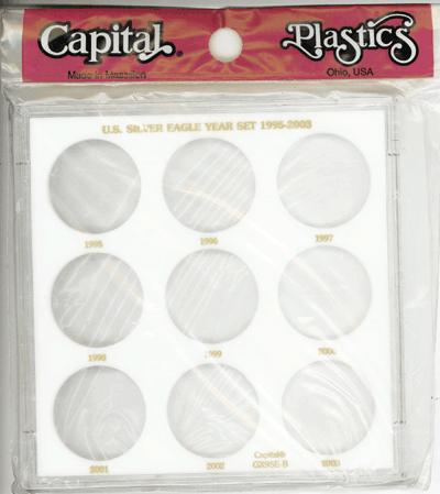 U.S. Silver Eagle Year Set 1995-2003 Galaxy U.S. Silver Eagle Year Set 1995-2003, Capital, GX9SEB