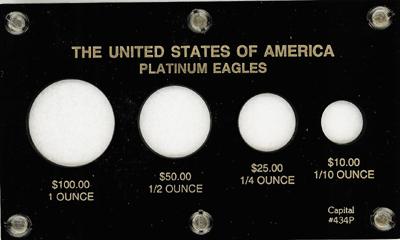 U.S. Platinum Eagles  3.5x6 U.S. Platinum Eagles , Capital, 434P