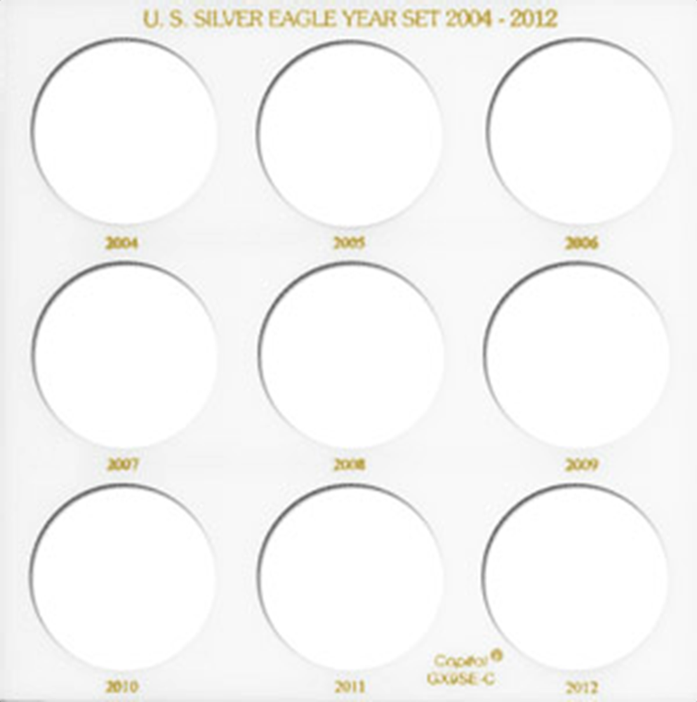 U.S. Silver Eagle Year Set 2004-2012 Galaxy U.S. Silver Eagle Year Set 2004-2012, Capital, GX9SEC-White