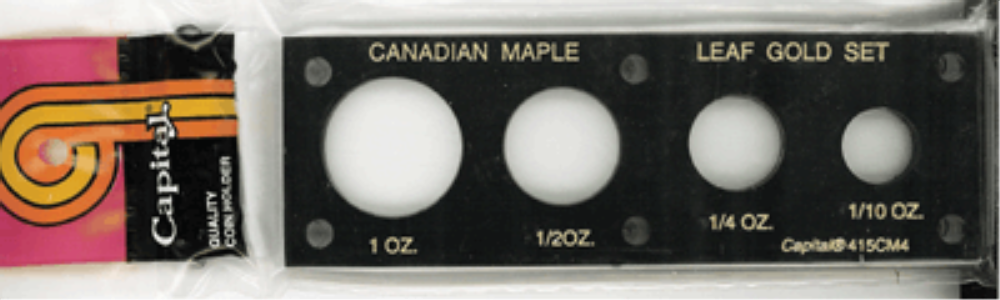 Capital Plastics Canadian Maple Leaf Gold Coin Set canadian maple leaf gold coin set holder
