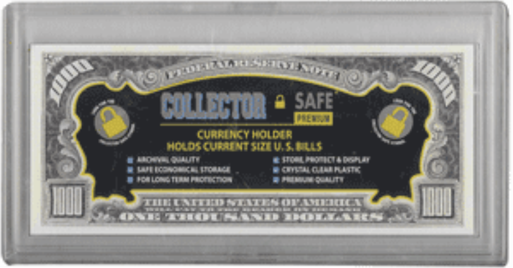 Collector Safe Acrylic Currency Snap Lock Holder for Modern Bills Collector Safe, Small, Snap Lock, Currency Holder, acrylic