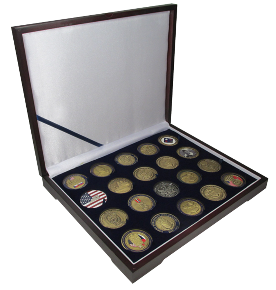 Guardhouse 1.75 Inch Challenge Coin Box - Holds 20 Coins