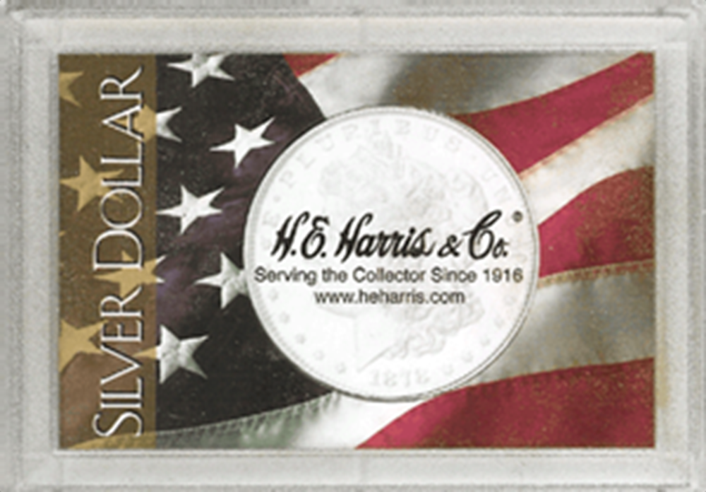 HE Harris American Flag Silver Dollar Frosty Case he harris american flag silver dollar frosty case 2x3