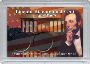 Lincoln Bicentennial Frosty Case ( 2 Penny ) - Abraham Lincoln