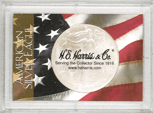 ASE American Flag HE Harris 2x3 Frosty Case 2x3 ASE American Flag HE Harris 2x3 Frosty Case, HE Harris & Co, 1680