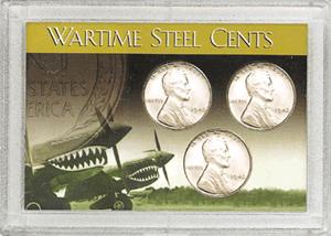 1943 Steel Cent HE Harris 2x3 Frosty Case 2x3