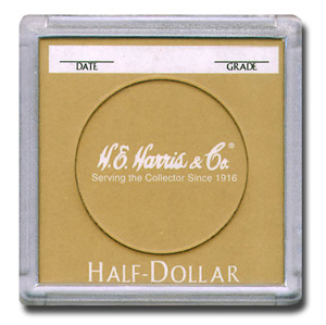 H.E. Harris 2 x 2 Snaplocks for Half Dollars - 25 PK
